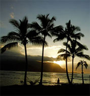 Wailua beach sunset